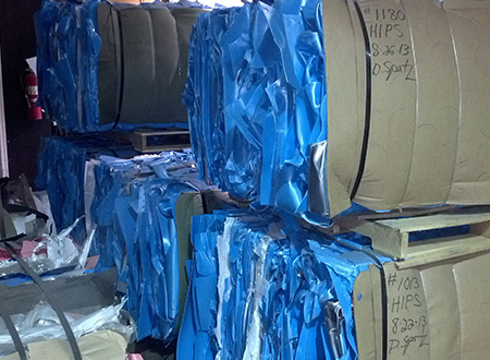 Industrial Recycling for stretch wrap