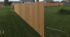 Wood fencing in Abbotsford, WI