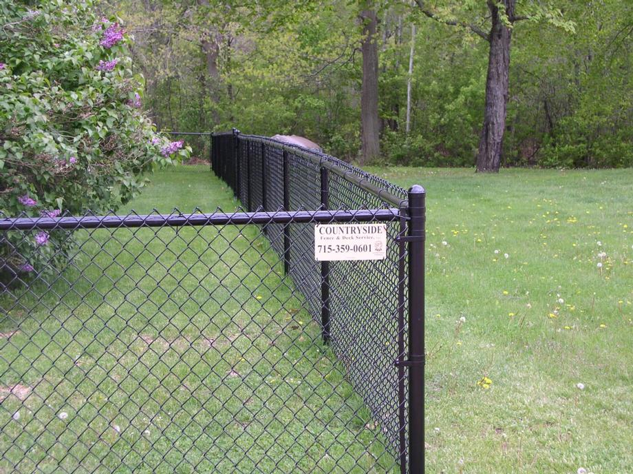 Residential chain link fencing in Marshfield, WI