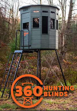 360 degree view hunting blind