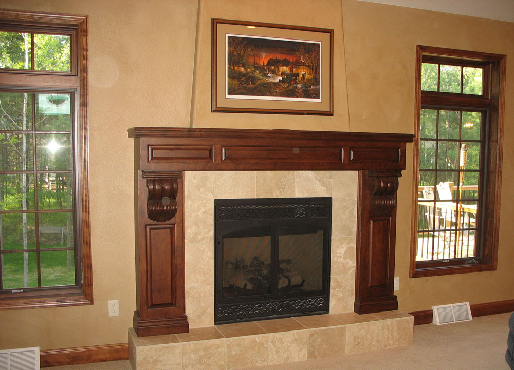 Fireplace mantels in Vilas County
