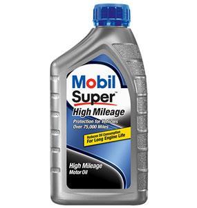 Mobil Super High Mileage Oil Change
