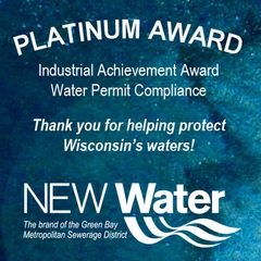 Bay Towel is a recipient of NEW Water's Platinum Industrial Achievement Award