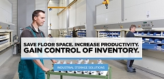 SAVE FLOOR SPACE.  INCREASE PRODUCTIVITY.  GAIN CONTROL OF INVENTORY.