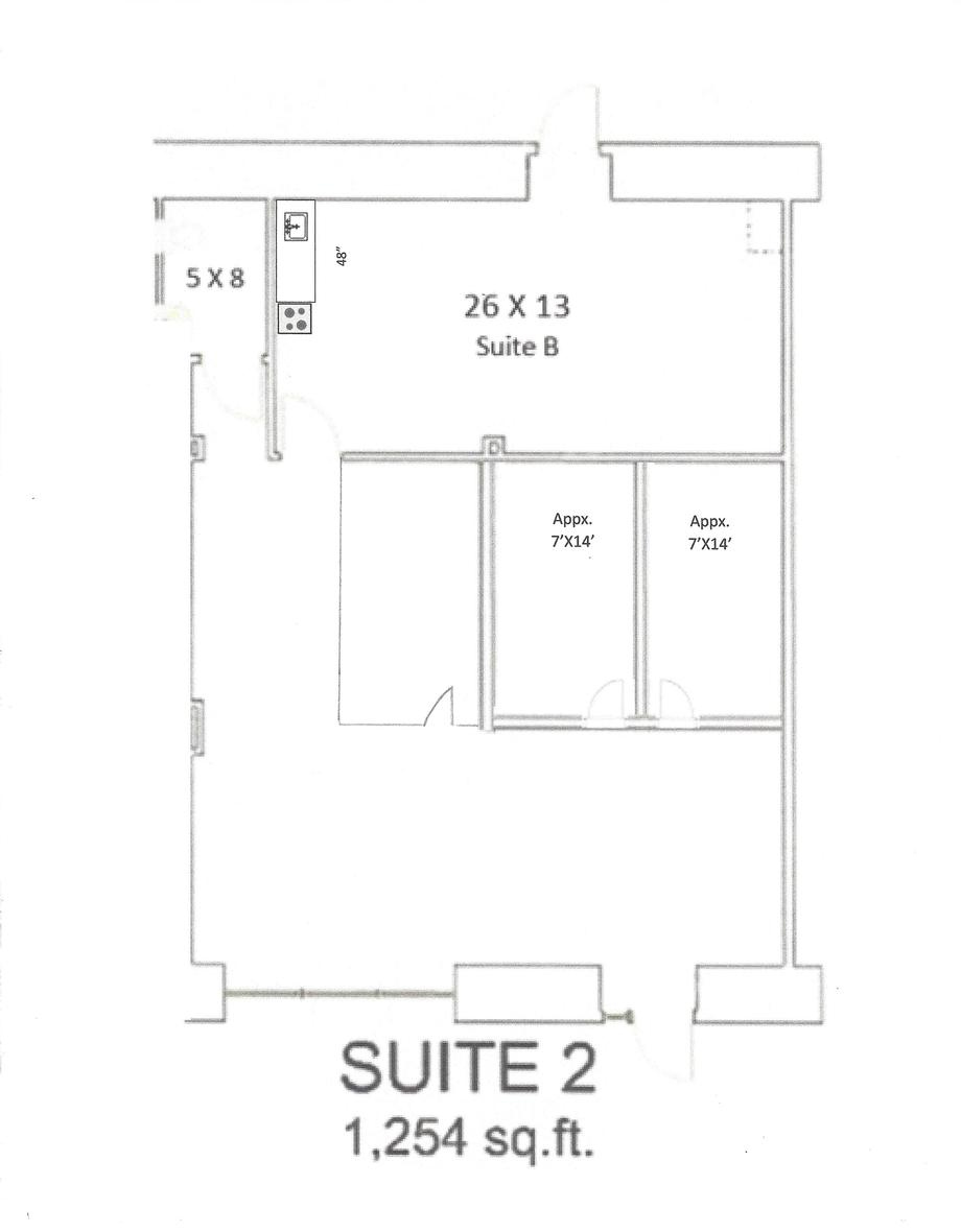 Suite# 2 Floor Plan