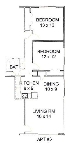 Apt 3 Floor Plan
