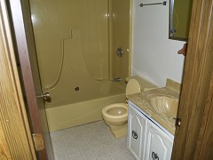 Unit A Upper Full Bath (Old Picture)