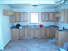 Kitchen (before remodel complete and before appliances installed)