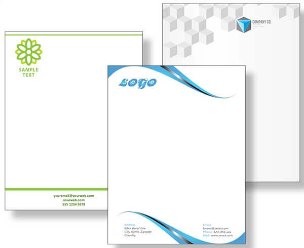 Custom Letterhead Design and Printing in Edgar, WI