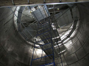 spray dryer fabrication and installation