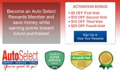 Become an Auto Select Rewards member and save money!