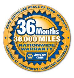 36 Months/36,000 Miles Nationwide Warranty