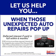 Get Free Financing On All Automotive Repairs & Tires