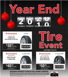 Year End Tire Event at Auto Select!