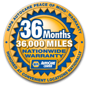 36 Months/36,000 Miles Nationwide Warranty from Auto Select