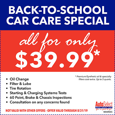Save! Best Automotive Specials at an Auto Select near you!