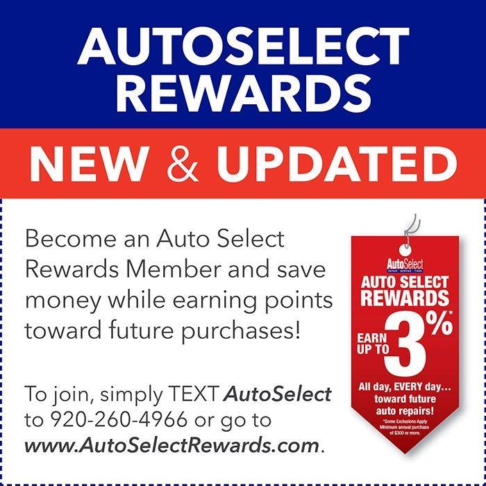 Auto Select Rewards Club in Weston, WI