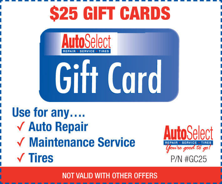 Automotive Repair Gift Cards in Neenah, WI