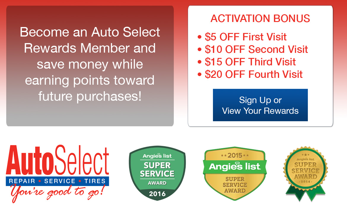 at all Auto Select Locations!