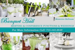 Rent our Banquet Facility during the week.
