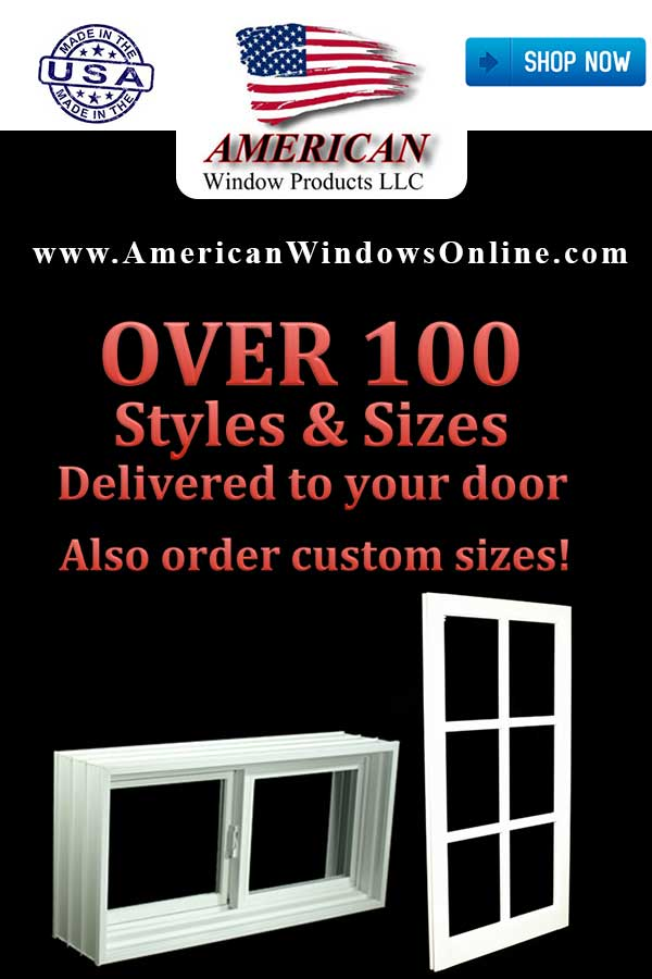 Lowest Prices! New PVC Non Insulated Single Hung Windows
