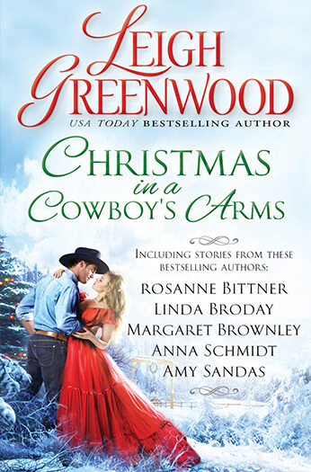 Christmas in a Cowboy's Arms by Rosanne Bittner, Linda Broday, Margaret Brownley, Anna Schmidt and Amy Sandas