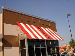 TGI Fridays restaurant, R F welded stripes, aluminum frame