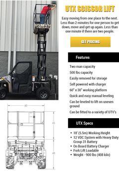 UTX Scissor Lift
