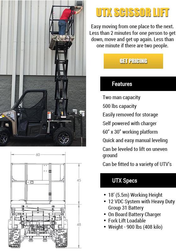 UTX Scissor Lift in Florida