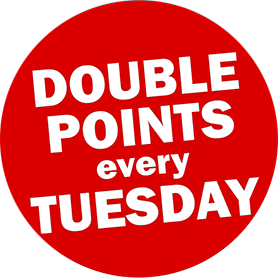 Double points every Tuesday when you use your R-Store Rewards