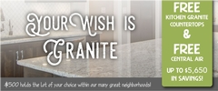 Free Granite or Quartz Kitchen Countertops!  Free A/C!