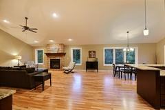 Acadia, Living Room, Dining Room, Fireplace