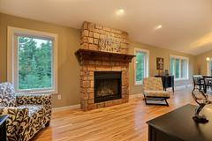 Acadia, Living Room, Fireplace