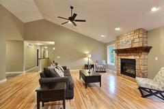 Acadia, Living Room, Flooring, Fireplace