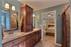 Azalea, Bathroom, Cabinetry, Countertop, Bedroom
