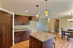 Jasmine, Kitchen, Dining Room, Countertop, Cabinetry
