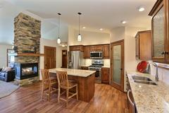 Orchid, Kitchen, Fireplace, Cabinetry