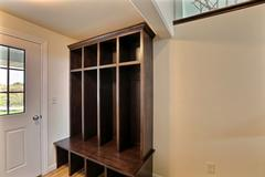 Pecan, Entry, Cabinetry
