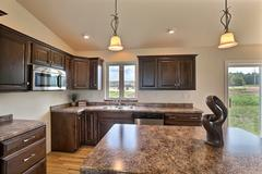 Pecan, Kitchen, Cabinetry, Countertop