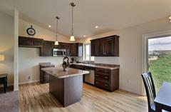 Pecan, Kitchen, Flooring, Cabinetry