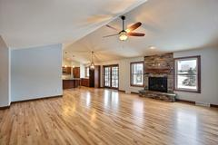 Sequoia, Living Room, Dining Room, Kitchen, Flooring, Fireplace