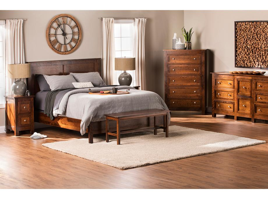 Taylor J Storage Bed in Cherry Color #16