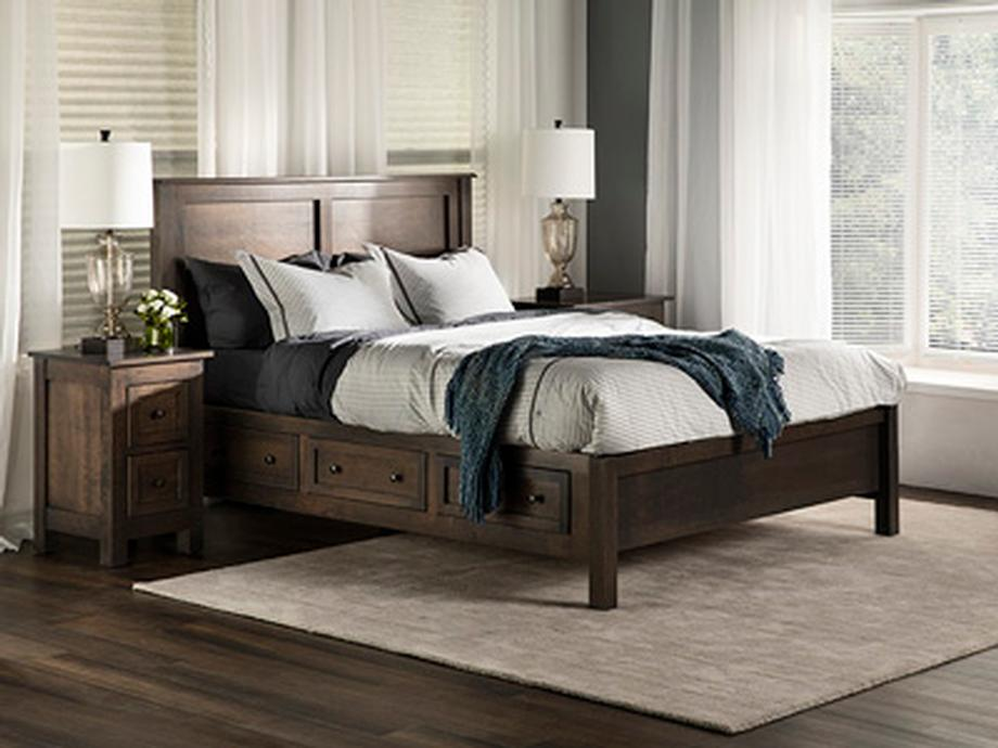 Taylor J Storage Bed in Cherry Color #45