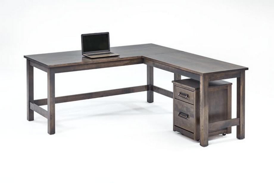 T12997 Desk with T12998 Return Birch Color #27