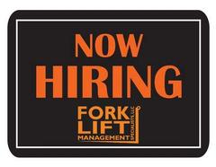 Help Wanted! We are looking for a hard-working Applicant At Forklift Management Specialists, LLC