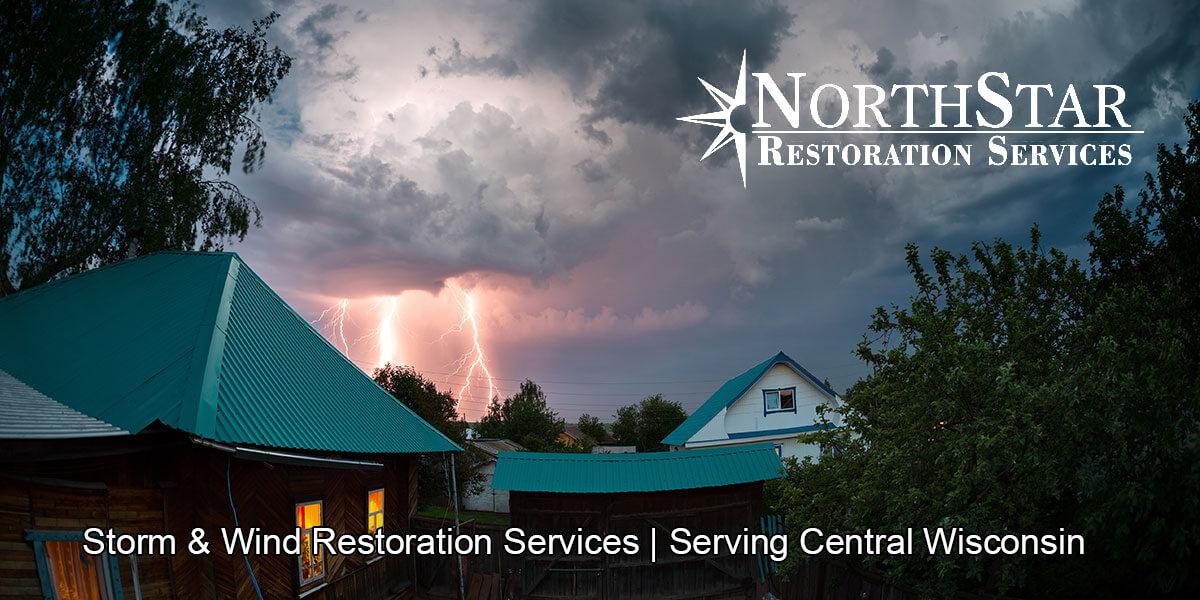 wind damage restoration in Nekoosa, WI