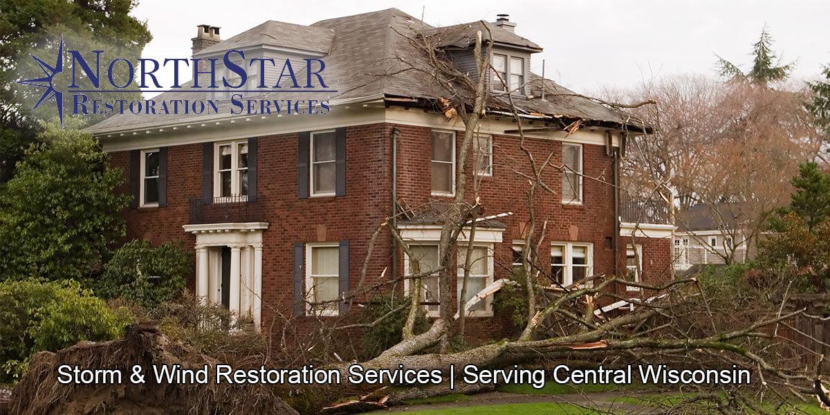 wind damage repair in Stevens Point, WI