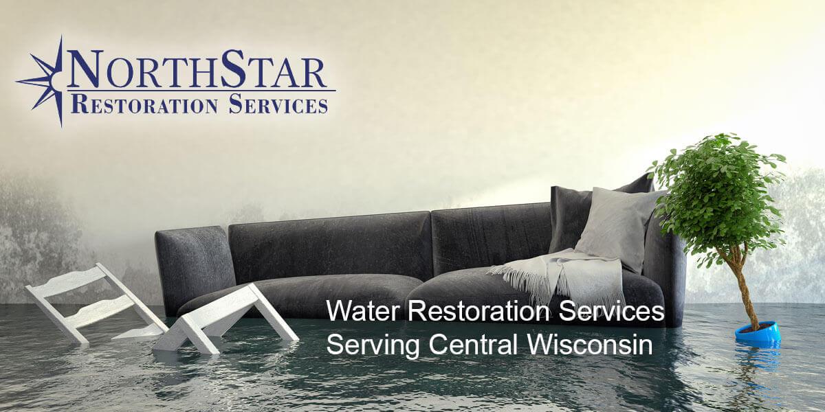 water damage repair in Wausau, WI