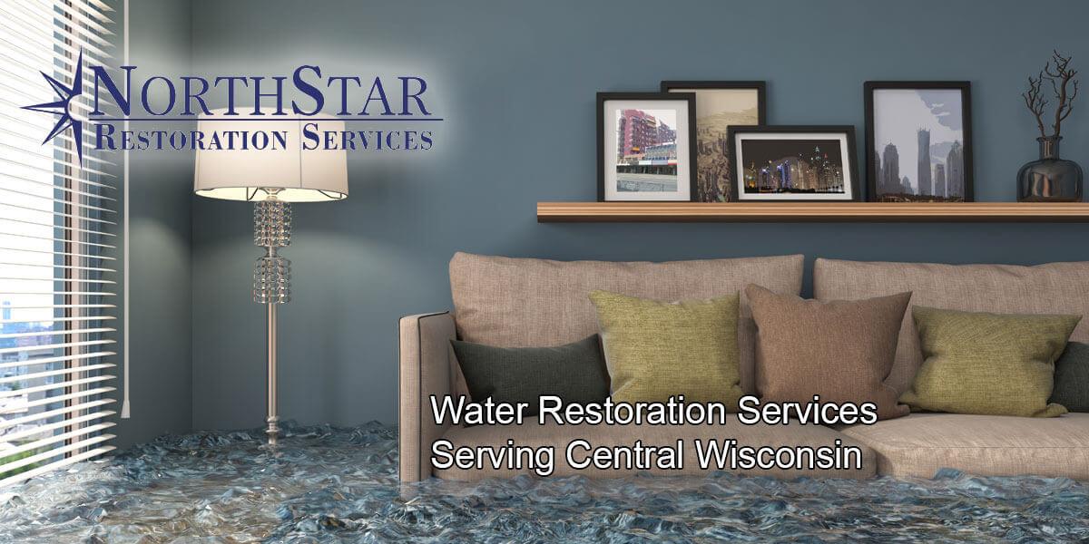 water damage repair in Stevens Point, WI