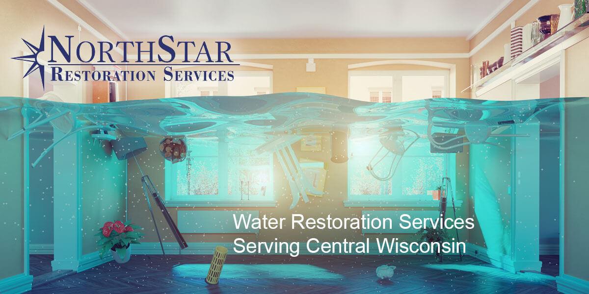 water damage restoration in Auburndale, WI